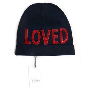 """Gucci Accessories - GUCCI """"Loved"""" Sequined Beanie - NWT"""